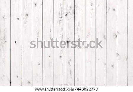 white wood texture planks background - stock photo