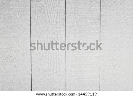 White wooden background texture - stock photo