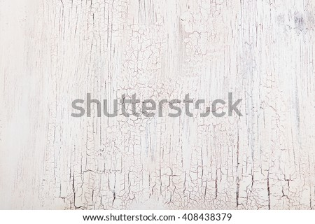 White wooden background with crackling effect High resolution Copy space Top view - stock photo