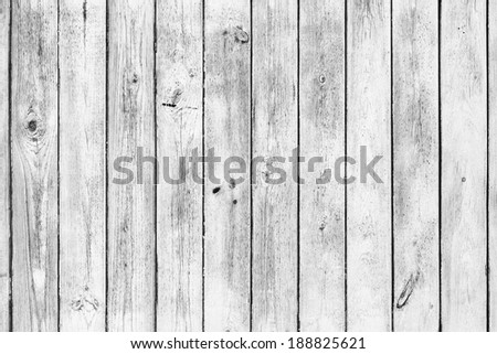White wooden board background - stock photo