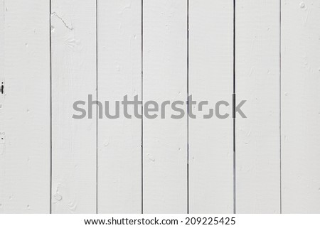 White Wooden Fence, Closeup Photograph - stock photo