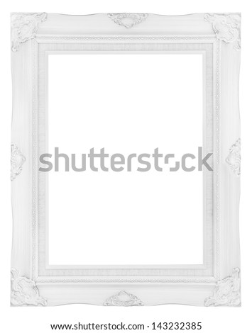 white wooden picture frame - stock photo