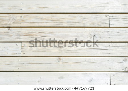 White wooden planks side by side - stock photo