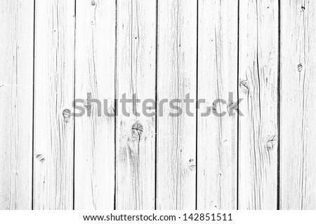 White wooden wall - stock photo