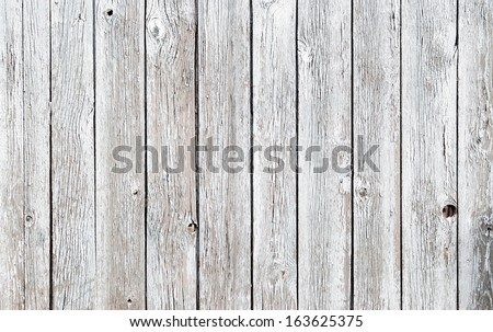 white wooden wall great as background - stock photo