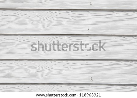 white wooden wall texture - stock photo
