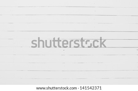 White wooden wall texture background - stock photo