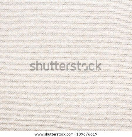 White Woolen Fabric Texture - stock photo