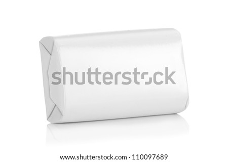 White wrap box package for new design on white background - stock photo