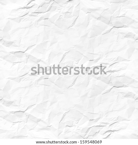 white wrinkled paper - stock photo