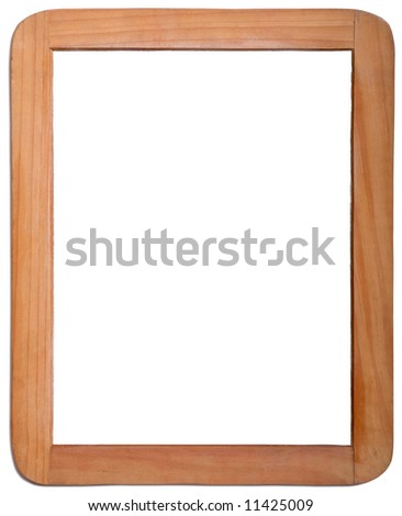 Whiteboard in Wooden Frame on White Background - stock photo