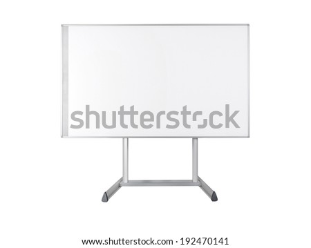 Whiteboard isolated on white - stock photo