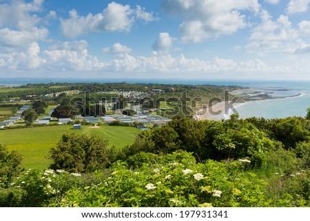 Whitecliff Bay  Isle of Wight  near Bembridge east of the island - stock photo