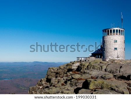 Whiteface Mountain Observatory, Lake Placid  - stock photo