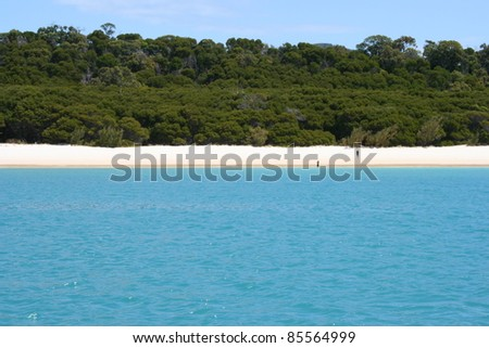 Whitehaven beach in the Whitsunday islands off the Queensland coast of Australia - stock photo