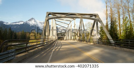 Whitehorse Mountain North Cascades Darrington WA Sauk River - stock photo