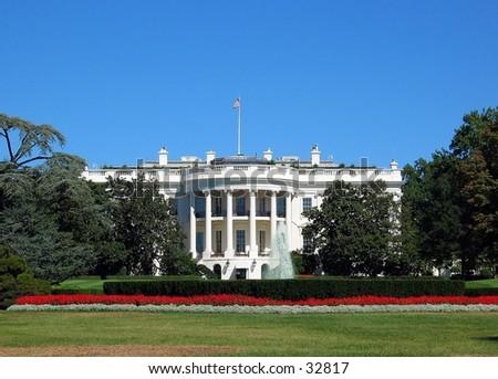 Whitehouse in Washington D.C. - stock photo
