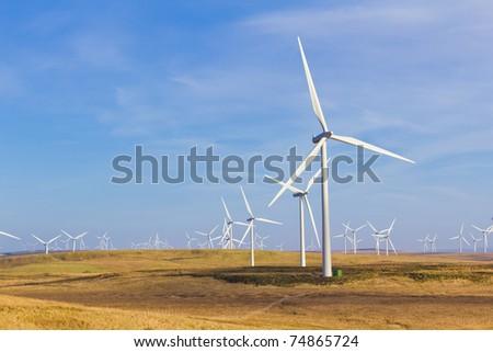 Whitelee Wind Farm - stock photo