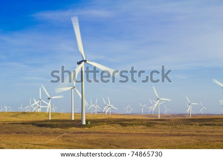 Whitelee Wind Farm - stock photo