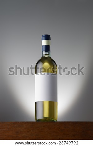 whitewinebottle - stock photo