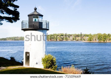 Whitlocks Mill Lighthouse, Calais, Maine, USA - stock photo