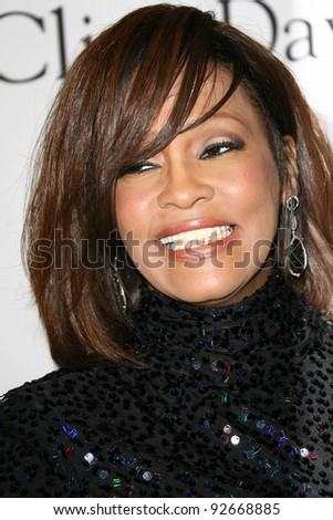 Whitney Houston at the Clive Davis Pre-Grammy Awards Party, Beverly Hilton Hotel, Beverly Hills, CA. 02-12-11 - stock photo