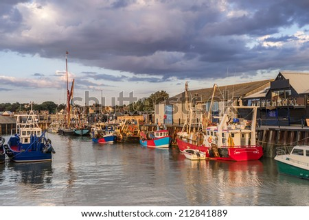 Whitstable Harbour - stock photo