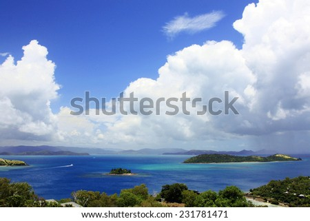 Whitsunday Island of the east coast of Australia - stock photo