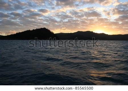 Whitsunday islands off the Queensland coast of Australia - stock photo
