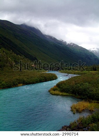 Whittier Alaska - stock photo