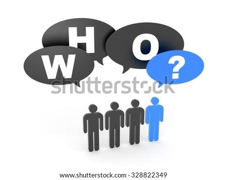 Who? - stock photo