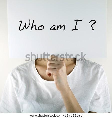 Who am i - stock photo