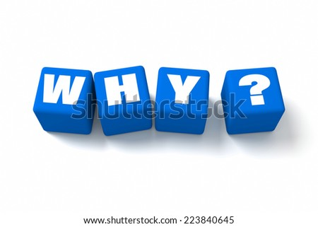 Who Blue cubes. Part of a series. - stock photo