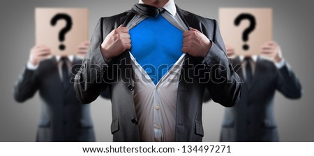 who is super businessman - stock photo