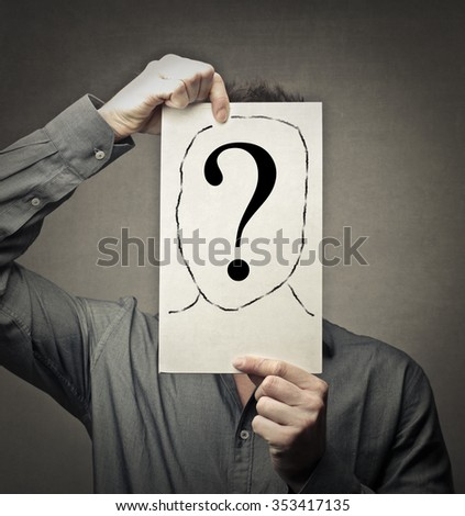 Who's this? - stock photo