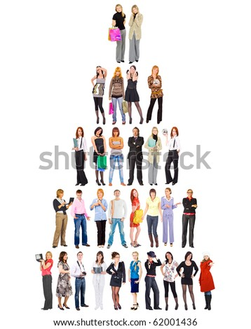 Who takes the top? - stock photo