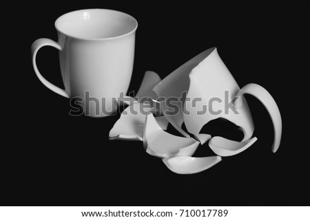 Broken Cup Stock Images Royalty Free Images Amp Vectors
