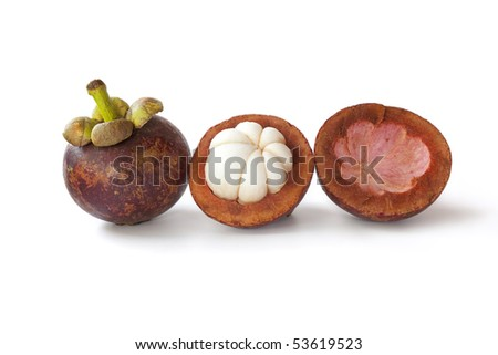 Whole and partial mangosteen