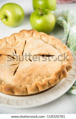 Whole Apple Pie - stock photo