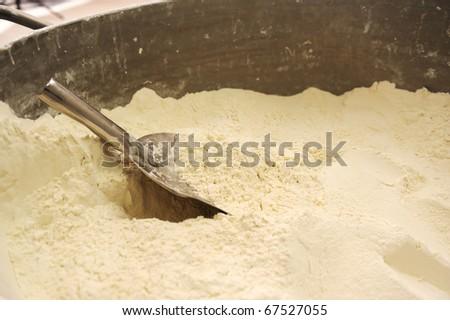 whole flour - stock photo