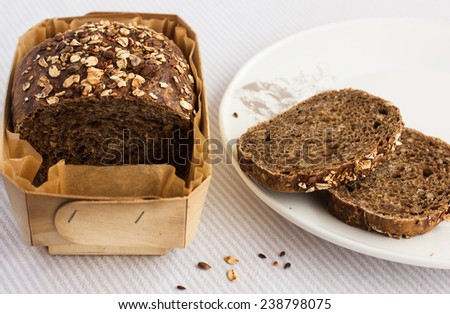 Whole grain bread - stock photo