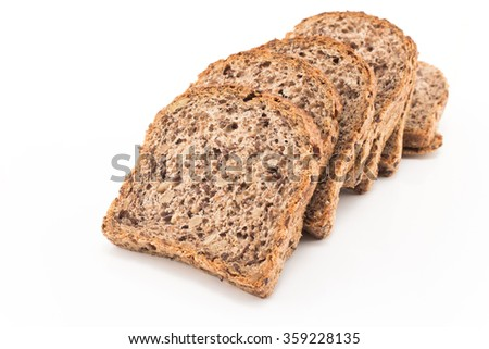 Whole grain bread sprouted wheat. - stock photo