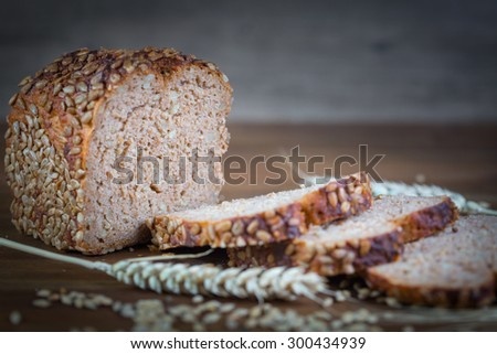 Whole grain bread with sunflower
