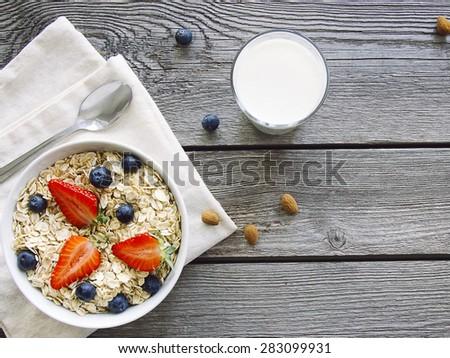 Whole grain breakfast - stock photo