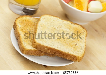 Whole Grain Toast on a background for breakfast