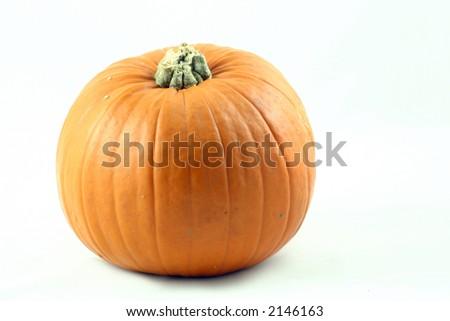whole large pumpkin - stock photo