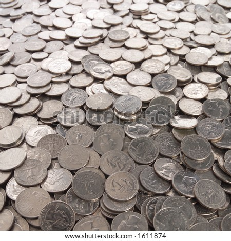 Whole lot of coins. - stock photo