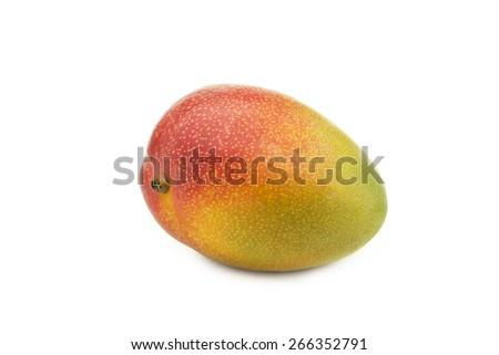 Whole mango fruit on white background - stock photo