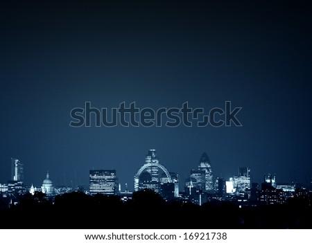 Whole of london cityscape - stock photo