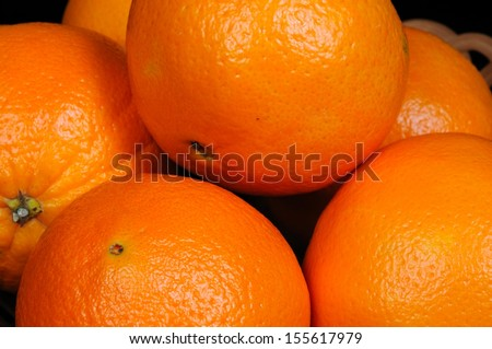 Whole oranges.